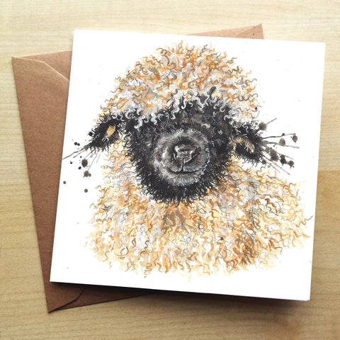 Splatter Betty KW71G Greetings Card by Katherine Williams