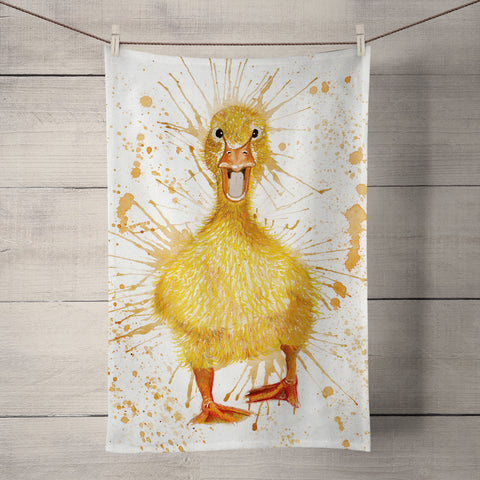 Splatter Duck KW15T Tea Towel by Katherine Williams