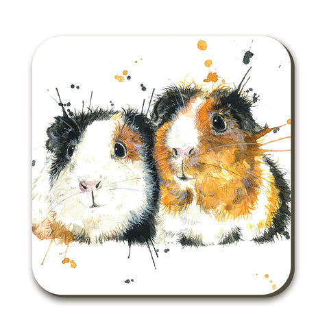 Splatter Guinea Pigs KW69C Coaster by Katherine Williams