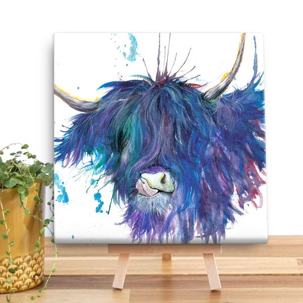 Splatter Highland Cow KW28V