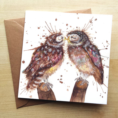 Splatter Loved Up KW62G Greetings Card by Katherine Williams