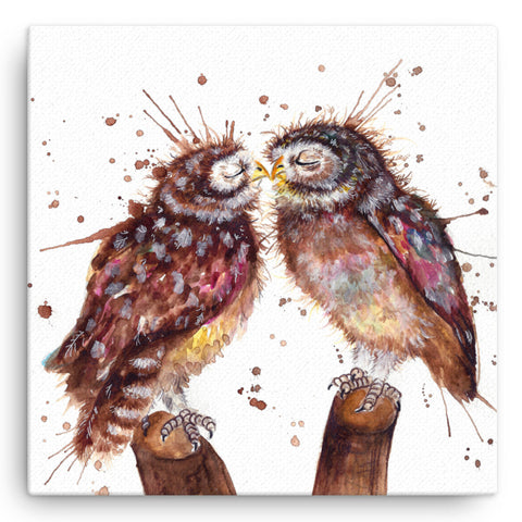 Splatter Loved Up KW62W Large Canvas by Katherine Williams