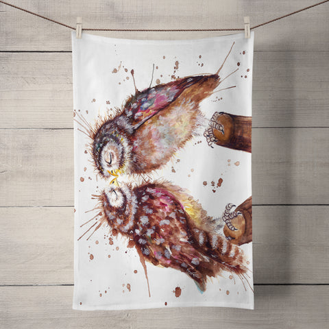 Splatter Loved Up KW62T Tea Towel by Katherine Williams