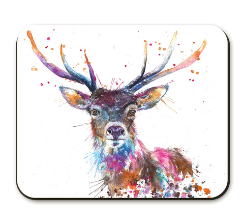 Splatter Rainbow Stag KW58A Placemat by Katherine Williams