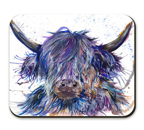 Splatter Scruffy Coo KW39A Placemat by Katherine Williams