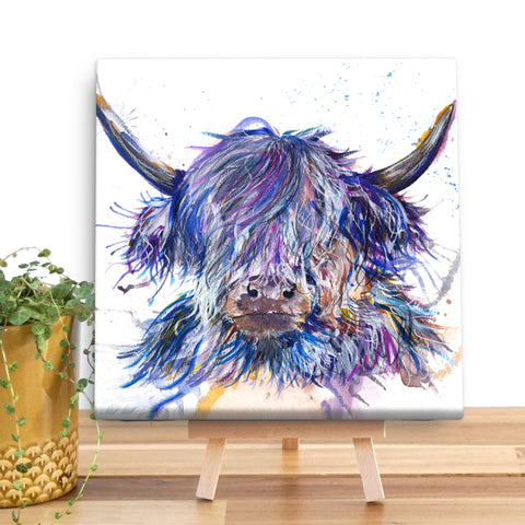 Splatter Scruffy Coo KW39V Canvas Mini by Katherine Williams