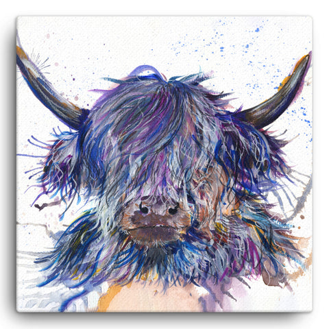 Splatter Scruffy Coo KW39W Large Canvas by Katherine Williams