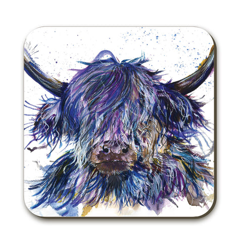 Splatter Scruffy Coo KW39C Coaster by Katherine Williams
