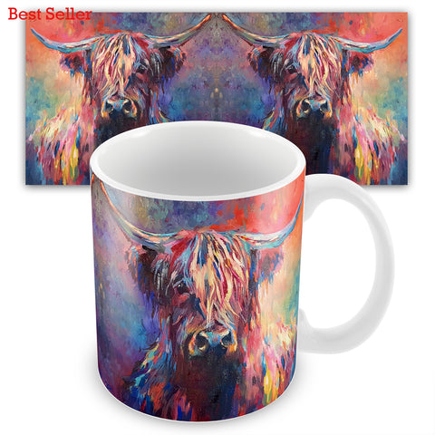 Highland Cow SG03M Ceramic Mug by Sue Gardner