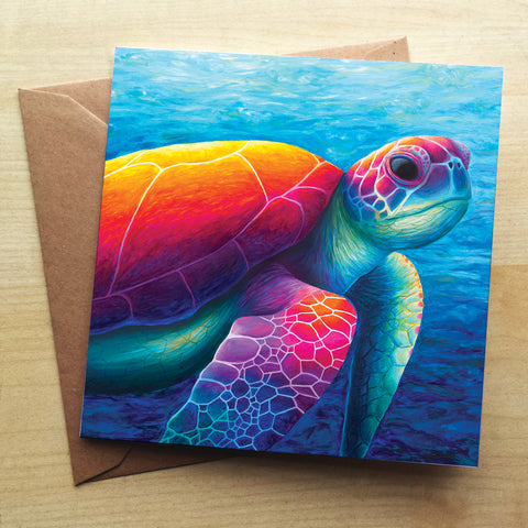 Turtle RR08G Greetings Card by Rachel Froud