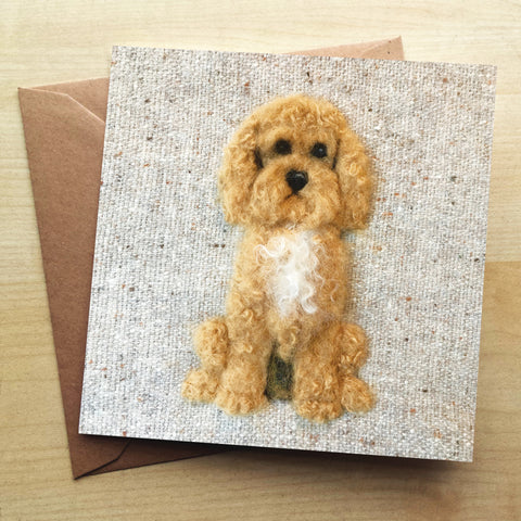 Cockapoo SA09G Greetings Card by Sharon Salt