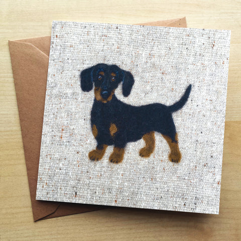 Dachshund SA15G Greetings Card by Sharon Salt