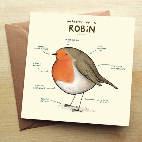 Anatomy Of A Robin SC34G Greetings Card by Sophie Corrigan