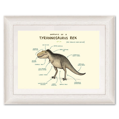 Anatomy of a T-Rex SC35 Original Print by Sophie Corrigan