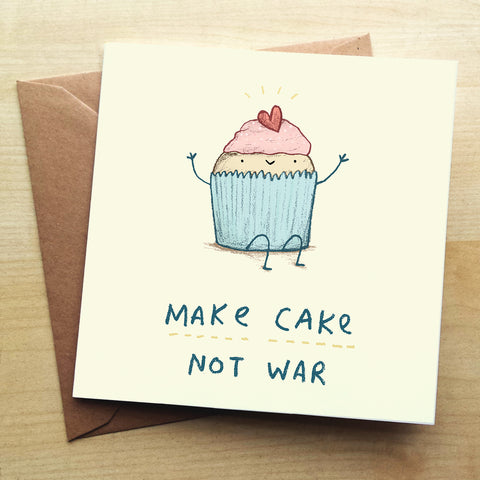 Cake SC41G Greetings Card by Sophie Corrigan