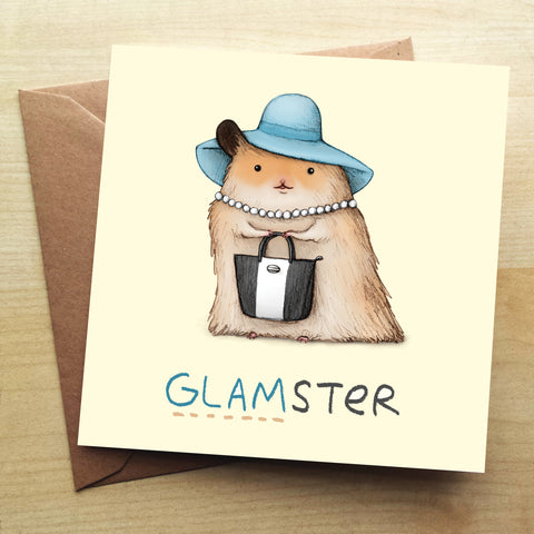 Glamster SC23G Greetings Card by Sophie Corrigan