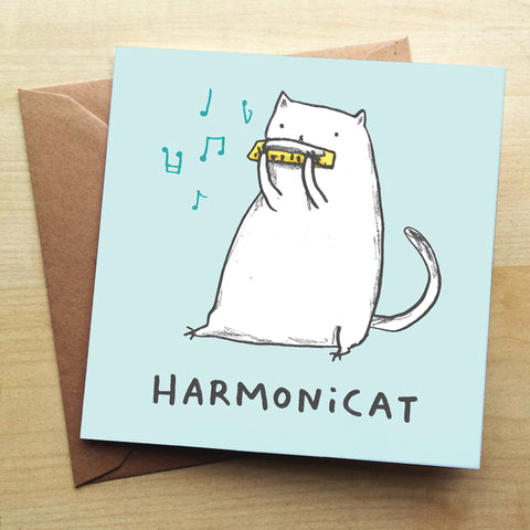 Harmonicat SC43G Greetings Card by Sophie Corrigan