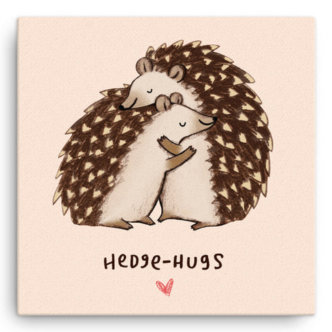 Hedgehugs SC09W Large Canvas by Sophie Corrigan