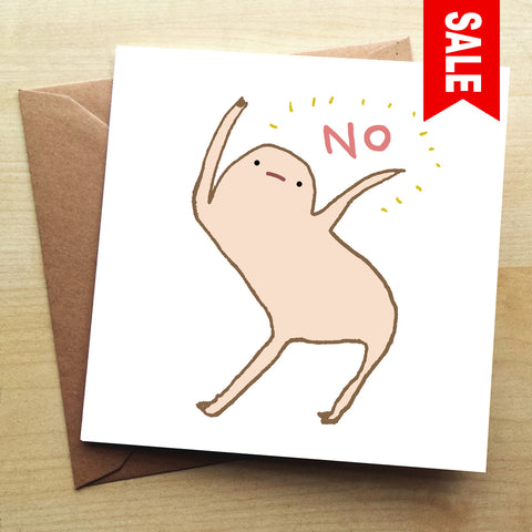 Honest Blob No SC11G Greetings Card by Sophie Corrigan
