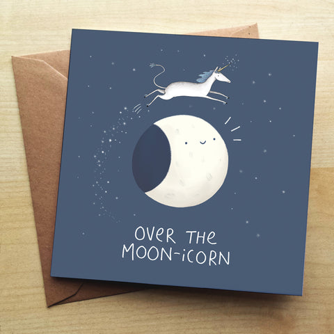 Moonicorn SC44G Greetings Card by Sophie Corrigan