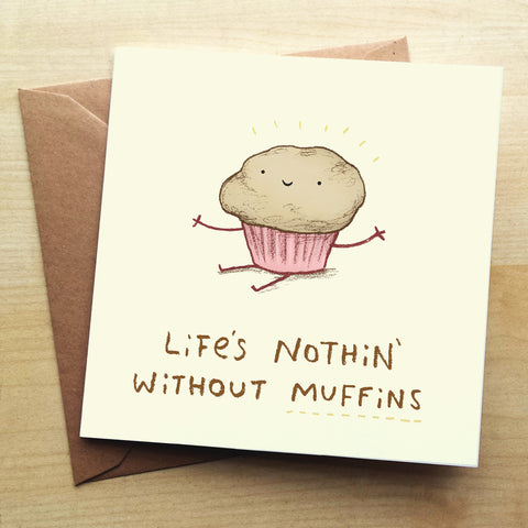 Muffins SC45G Greetings Card by Sophie Corrigan