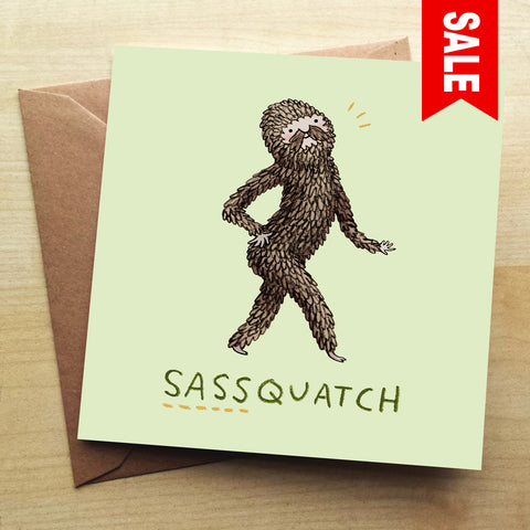Sassquatch SC16G Greetings Card by Sophie Corrigan