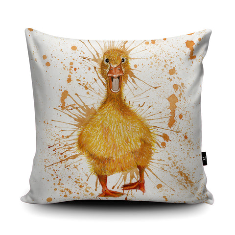 Splatter Duck KW15U Cushion by Katherine Williams