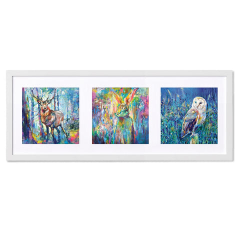 Forest Fun SG31X Triptych by Sue Gardner