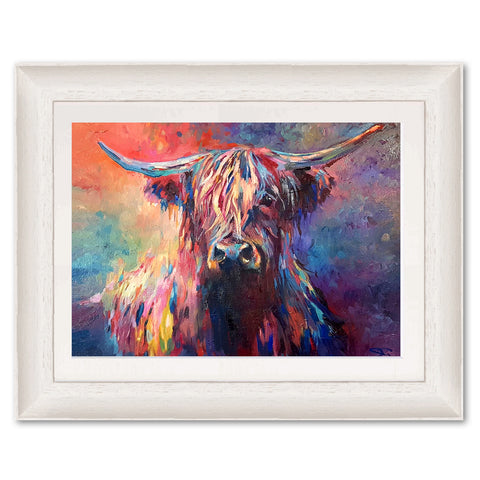 Highland Cow SG03 Original Print by Sue Gardner