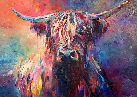 Highland Cow SG03G Greetings Card by Sue Gardner