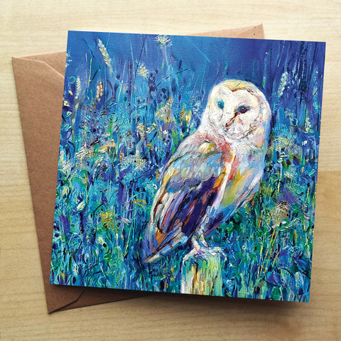 Midsummer Owl SG22G Greetings Card by Sue Gardner