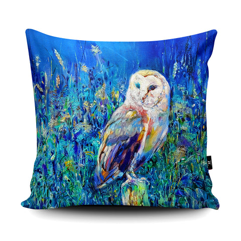 Midsummer Owl SG22U Cushion by Sue Gardner