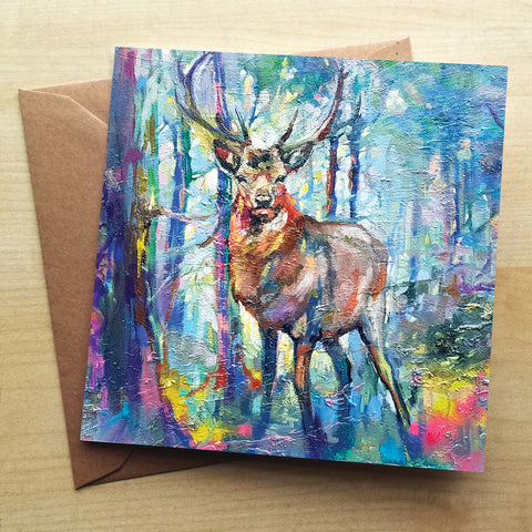 Mystic Stag SG11G Greetings Card by Sue Gardner