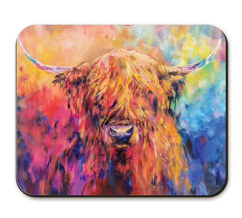 Rainbow Cow SG28A Placemat by Sue Gardner