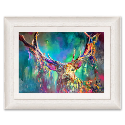 Woodland Stag SG06 Original Print by Sue Gardner