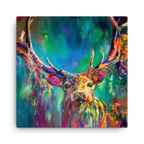 Woodland Stag SG06V Canvas Mini by Sue Gardner