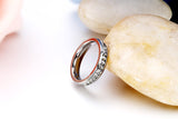 Boniskiss #8 Stainless Steel Clear Rhinestone Eternity Ring Engagement Wedding Band