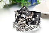 Boniskiss Pirate Captain Leather Bracelet Punk Rock