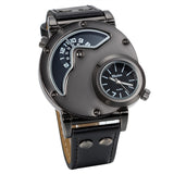 Boniskiss Fashion Watch With 2 Clocks Black