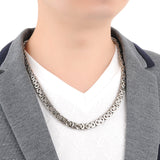 Boniskiss Biker Men's Durable Stainless Steel Link Necklace Chain 22.4 inch, Silver