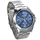 Boniskiss Mens Stainless Steel Classic Wrist Watch Blue Dial