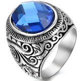Boniskiss Mens Stainless Steel Ring Classic Vintage Gothic