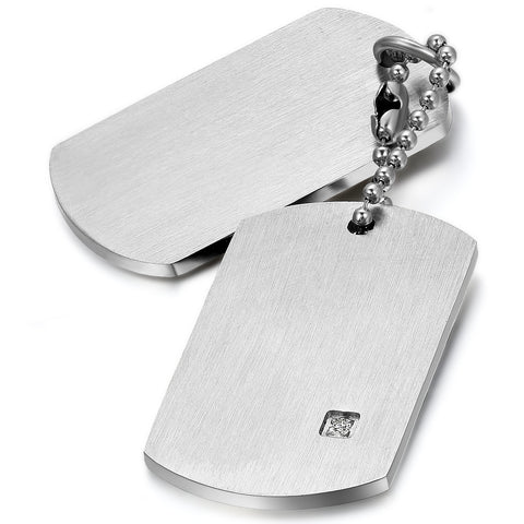 Boniskiss Stainless Steel Necklace with Plain Pendant for Men