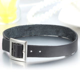 Boniskiss Punk Rock Leather Choker Black