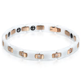 Boniskiss Ceramic Stainless Steel Bracelet White Gold
