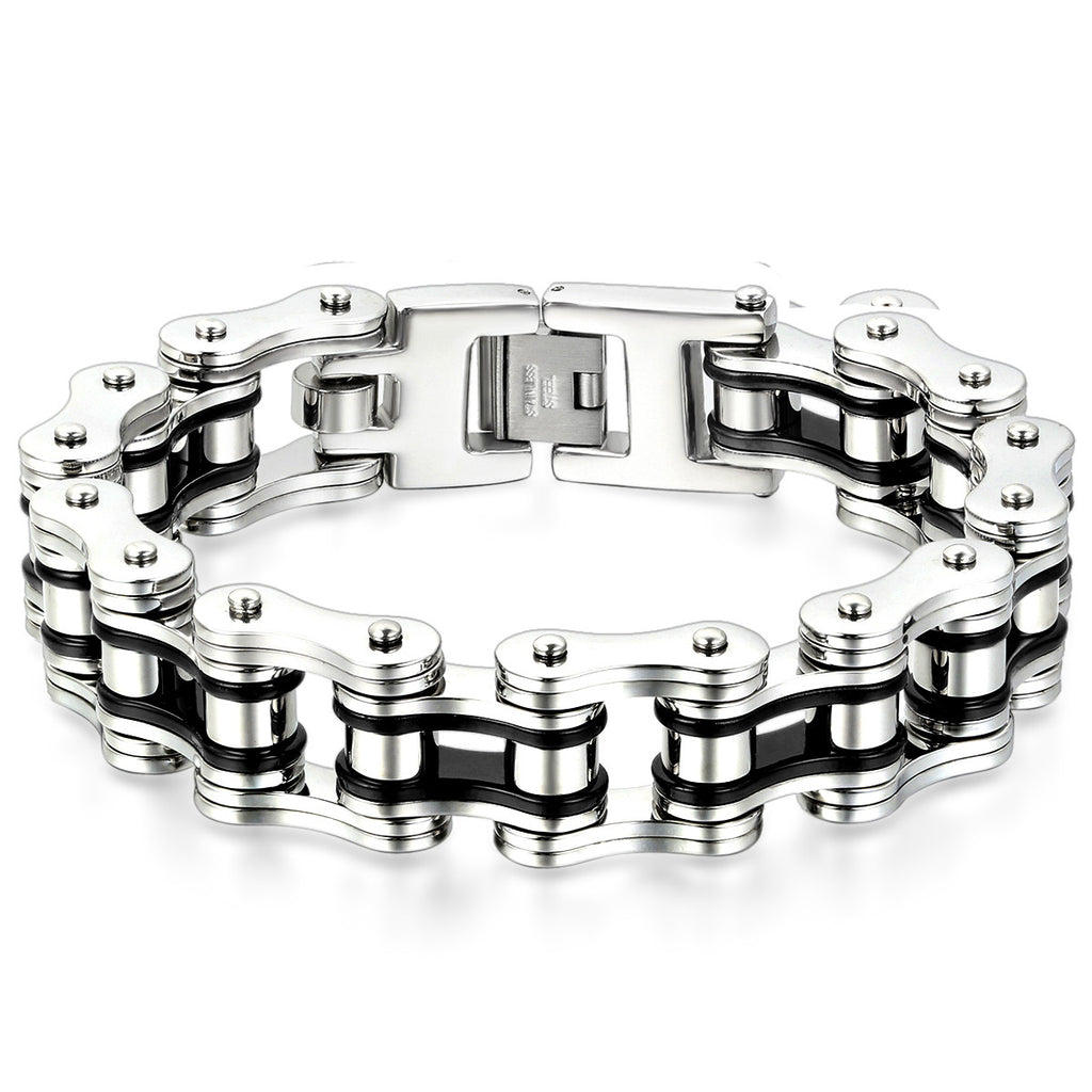 mens chain bracelet men masculine products evermarker link s stainless steel