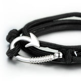 Boniskiss Fish Hook Wrap Nylon Rope Bracelet