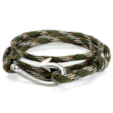 Boniskiss Nylon Rope Fish Hook Wrap Bracelet
