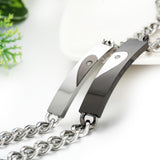 Boniskiss Stianless Steel Couples Bracelet ¡°keep me in your heart¡±
