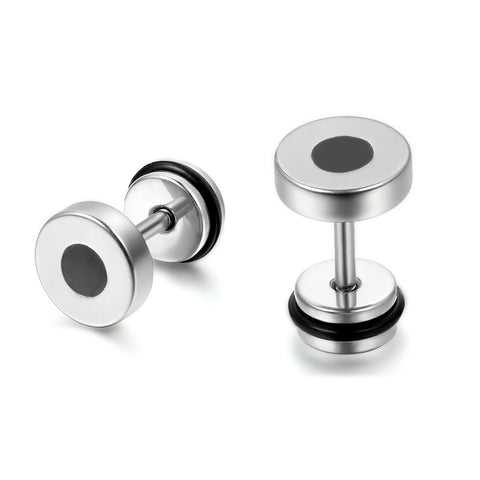 Boniskiss Classic Stainless Steel Stud Earrings 8mm 10mm 12mm